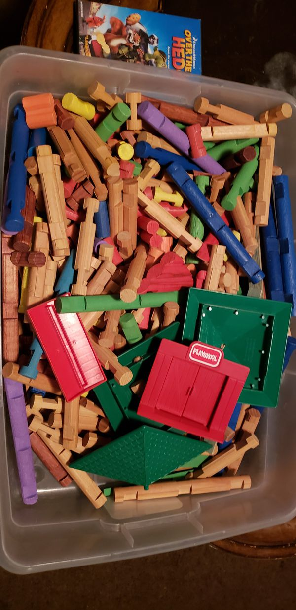 Vintage Playskool Lincoln Wooden Blocks 378 Pieces 50 For Sale In Fresno Ca Offerup