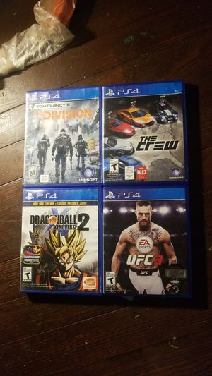 UFC 3 , Dragon Ball Z , The Crew, The Division for Sale in Hyattsville, MD