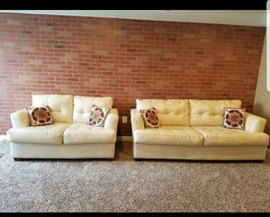 White leather sofa set for Sale in Aldie, VA