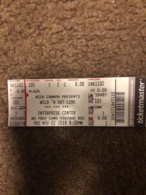 Wildn Out front row ticket tomorrow night 8pm for Sale in Ferguson, MO