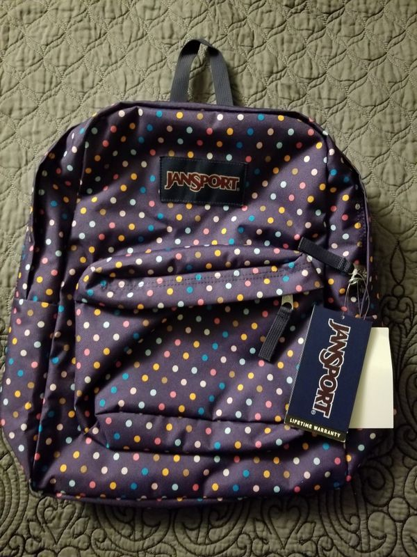 JANSPORT SPORT-O-RAMA polka dots backpack for Sale in Los Angeles, CA -  OfferUp
