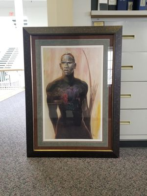 Original Man Limited Edition Painting with Papers for Sale in Washington, DC