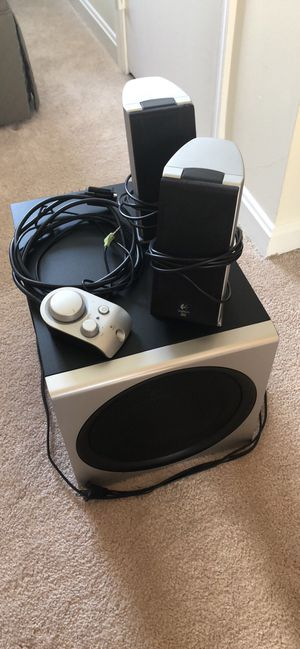 Logitech THX 2.1 Speakers with Subwoofer and remote for Sale in Alexandria, VA