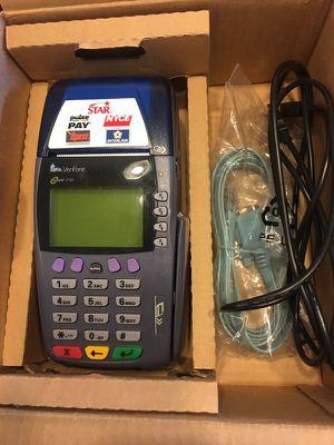 VeriFone Credit/Debit Card Machine W/ 24 Paper Rolls W/ Chip Reader & Cords for Sale in Tucson, AZ