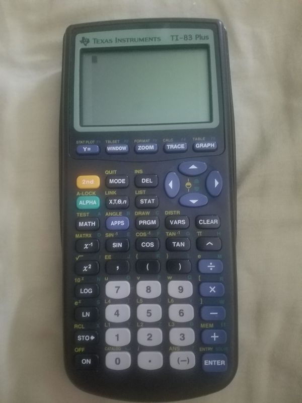 TI 83 Calculator With New Batteries