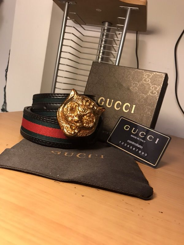 29d76f47574 Lion head Gucci belt for Sale in Chesapeake