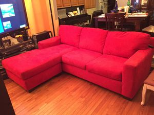 Red sofa bed 38Dx93Lx74 LS Long side LS for Sale in Fairfax, VA