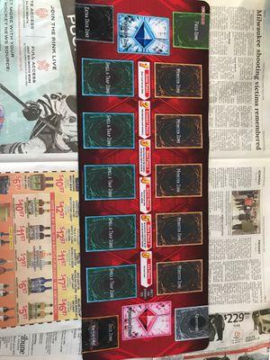 Photo Yu-Gi-Oh card organizing placemat