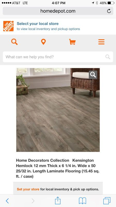 Home Decorators Kensington Hemlock Laminate Flooring New Home