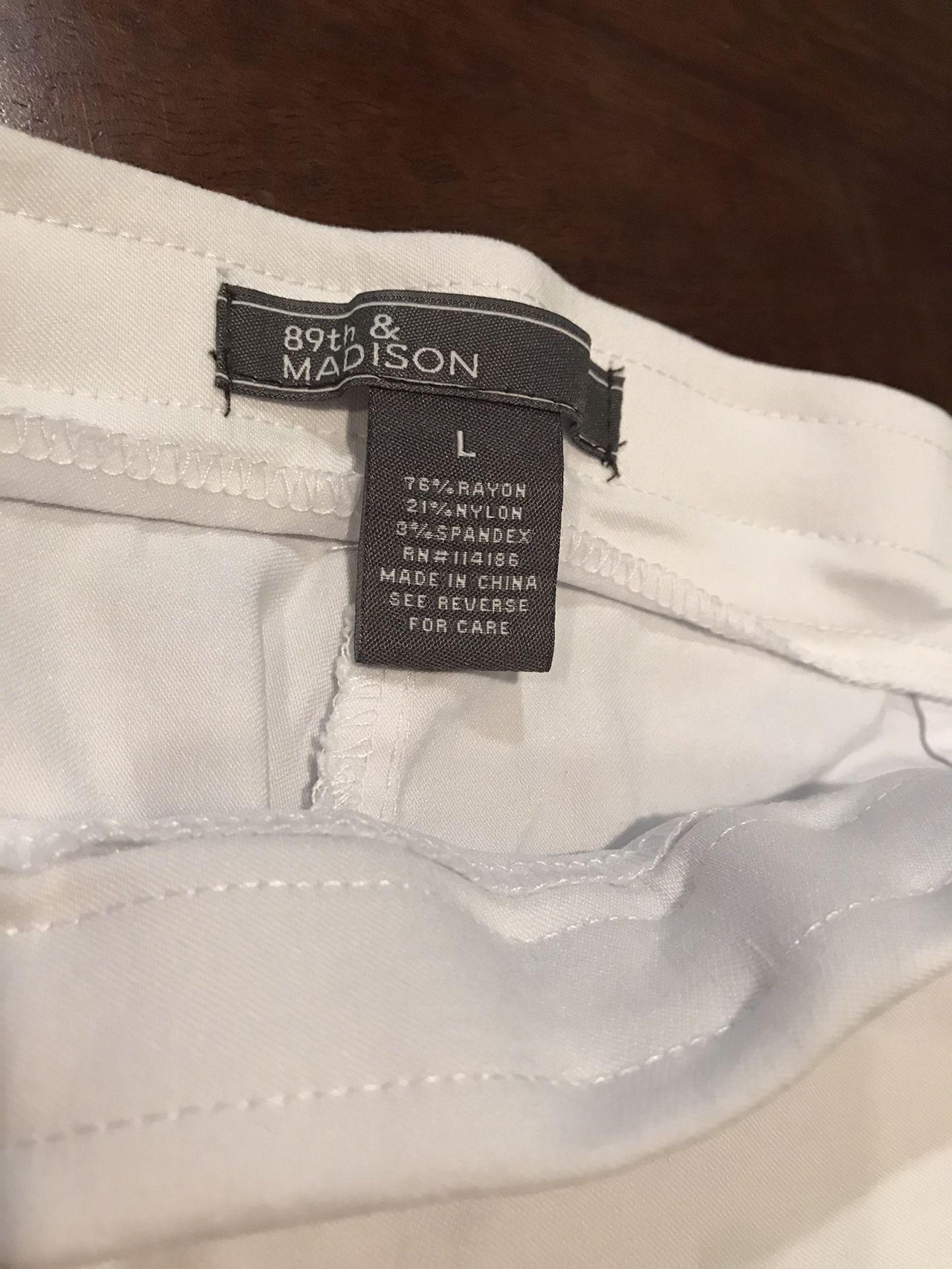 89th & Madison L cropped pants!