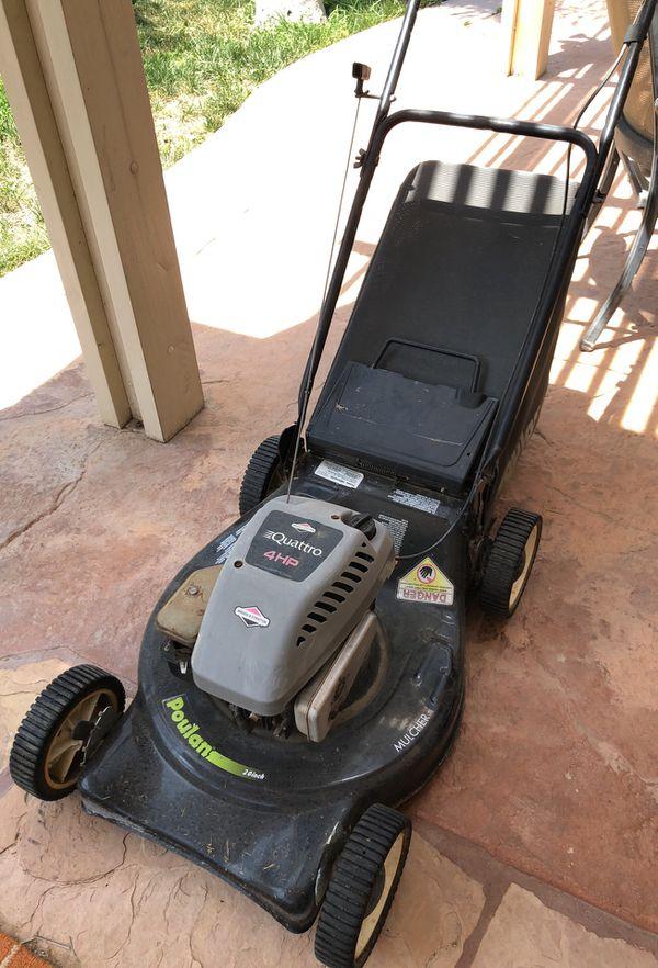 Lawn Mower Briggs Stratton Quattro Poulan 20 4hp For