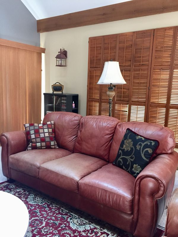 1 Plush Leather Couch