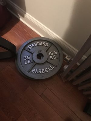 2 Standard 35 lb plates. for Sale in Brooklyn, NY