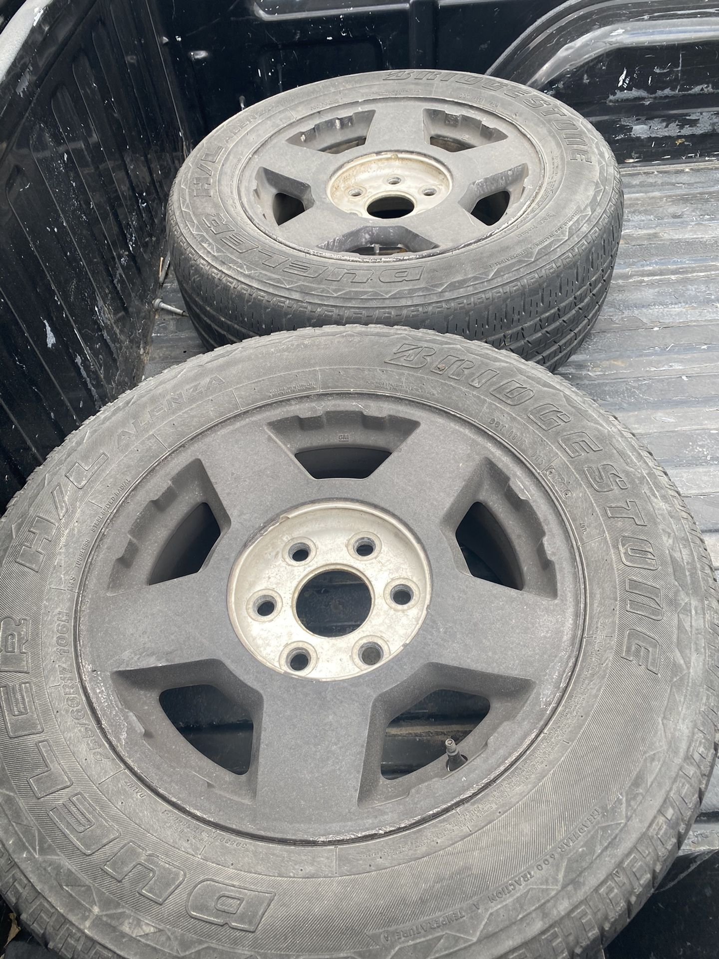200 4 Rims And Tires Stock 17 inch Chevy