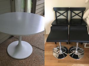 IKEA breakfast table and high chairs for Sale in McLean, VA