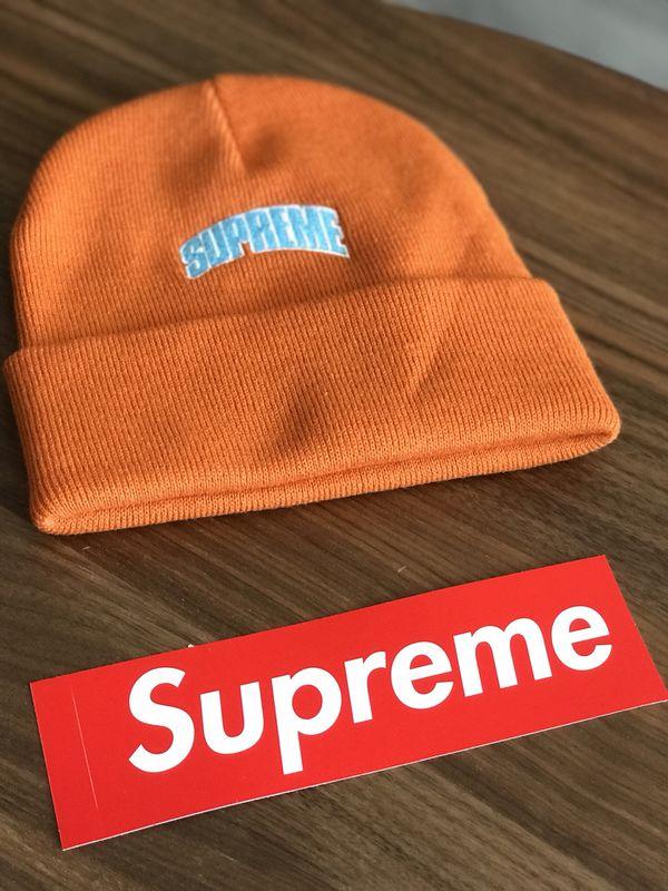 7514a568b2e Supreme Crown Logo Beanie Hat Orange for Sale in Brooklyn