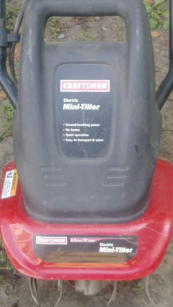 Craftsman Mini tiller electric 6 5amp 9