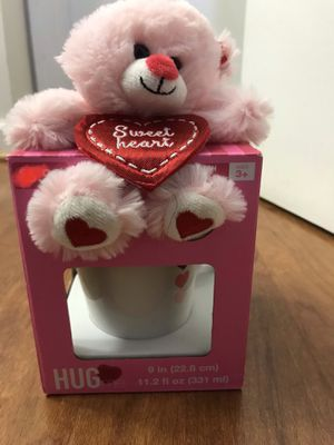 Brand new Valentine's sweetheart Mug & Plush Toy gift set(pick up only) for Sale in Alexandria, VA