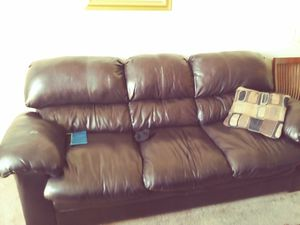 Gently used Leather Couch and Recliner for Sale in Atlanta, GA