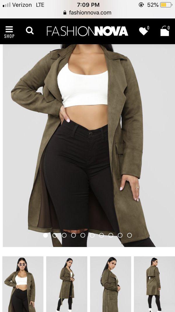 16e969269ae Fashion Nova Suede Jacket - Olive for Sale in Oakland