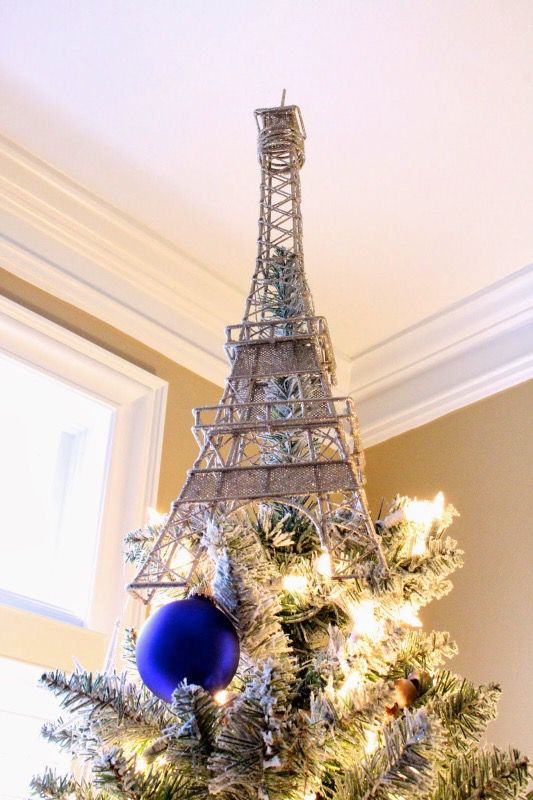 Pottery Barn Eiffel Tower Paris Tree Topper