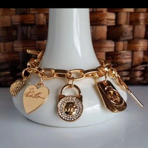 Mk Michael Kors charms heart love key padlock bracelet women's jewelry Christmas gift for Sale in Silver Spring, MD