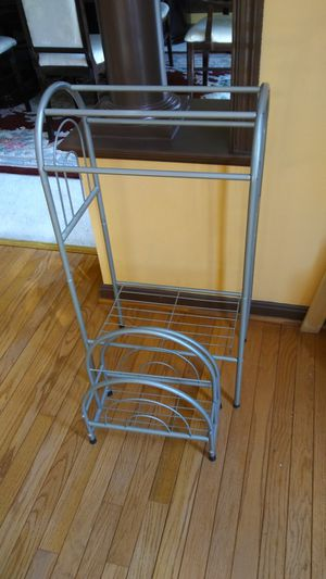 Silver Finish Towel and Magazine Holder for Sale in Haymarket, VA