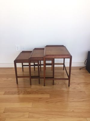Vintage mid-century walnut nesting tables for Sale in Tampa, FL