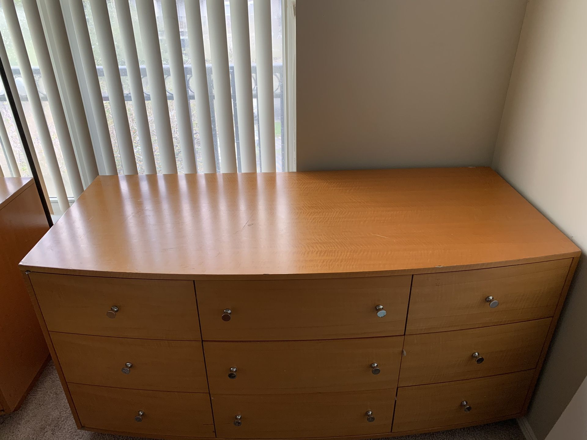 2 Wooden 7 piece dressers