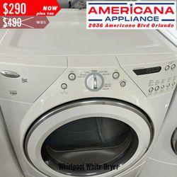 ENDING SOON Whirlpool White Dryer Thumbnail