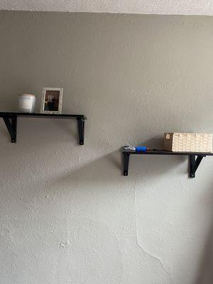 Photo Dark brown shelves