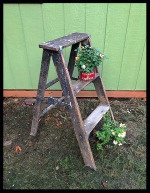 Vintage 3ft Wood Step Ladder for Sale in Kirkland, WA