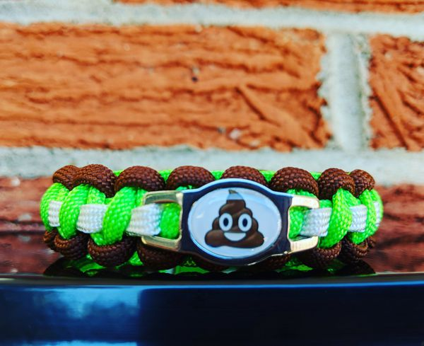 Poop Emoji Paracord Bracelet for Sale in Norman, OK - OfferUp