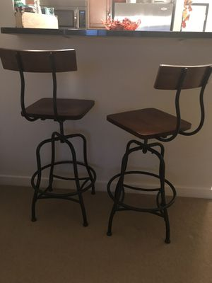 Wood/Rod Iron Industrial Bar Stools for Sale in Washington, DC