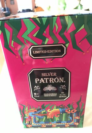 Empty patron silver tequila limited edition container for Sale in Orlando, FL