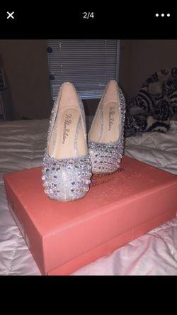 Silver Jeweled Stilettos Thumbnail