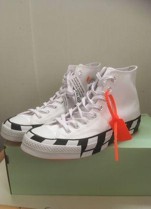 Off White Converse size 10 for Sale in Alexandria, VA