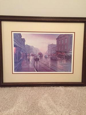 """Signed H.T. Becker """"Evening in Georgetown"""" for Sale in Fairfax, VA"""
