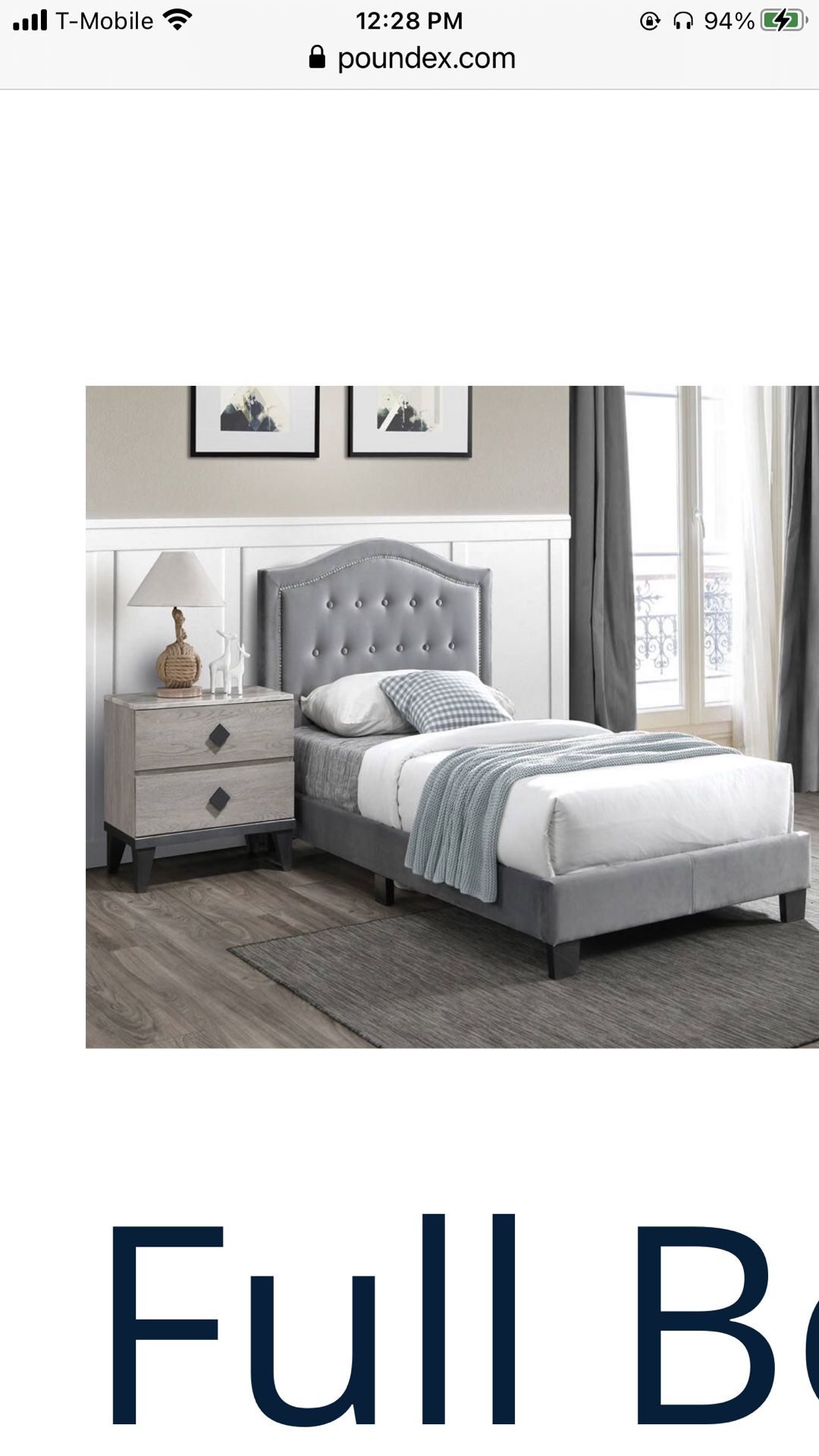 Full Size Bed Only