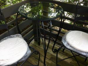 Pristine Iron Bistro Table and Stools for Sale in Bellevue, WA