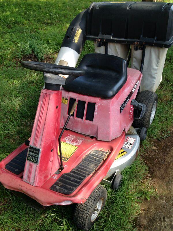 honda 3011 hydrostatic 30 u0026quot  cut riding mower with rear bagger for sale in high ridge  mo