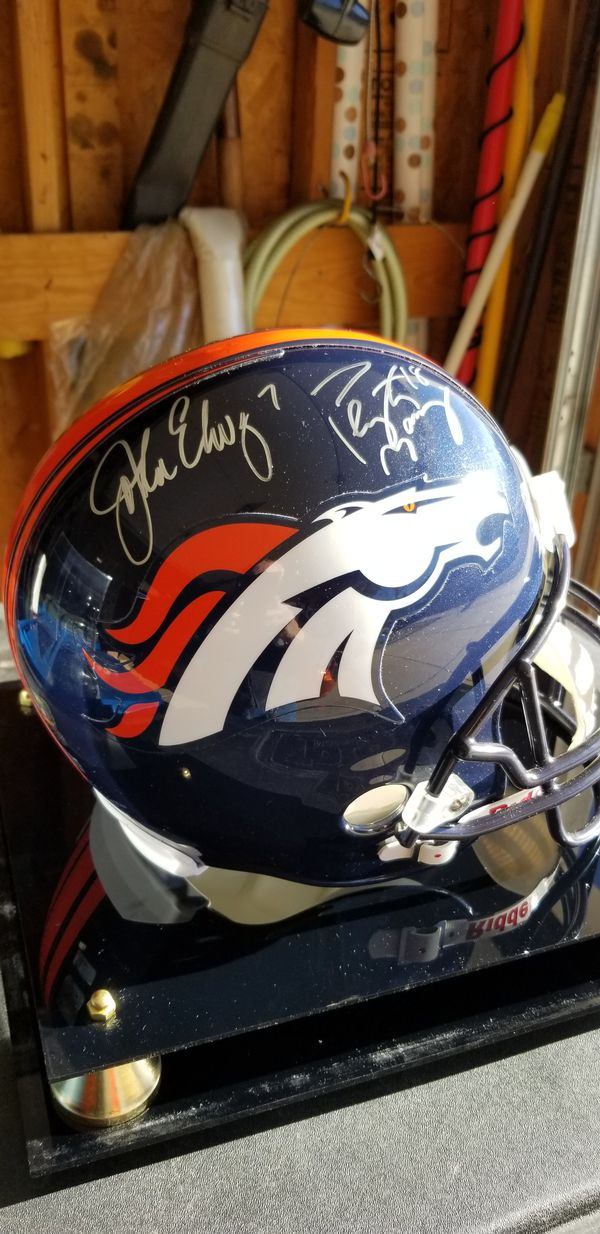 829350986 Peyton Manning and John Elway autographed Denver Broncos full size helmet  for Sale in Aurora