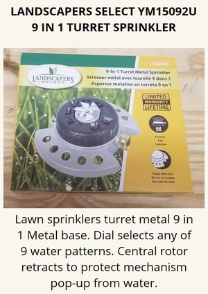 Landscapers Select 9 In 1 Turret Sprinkler for Sale in Terrell, TX