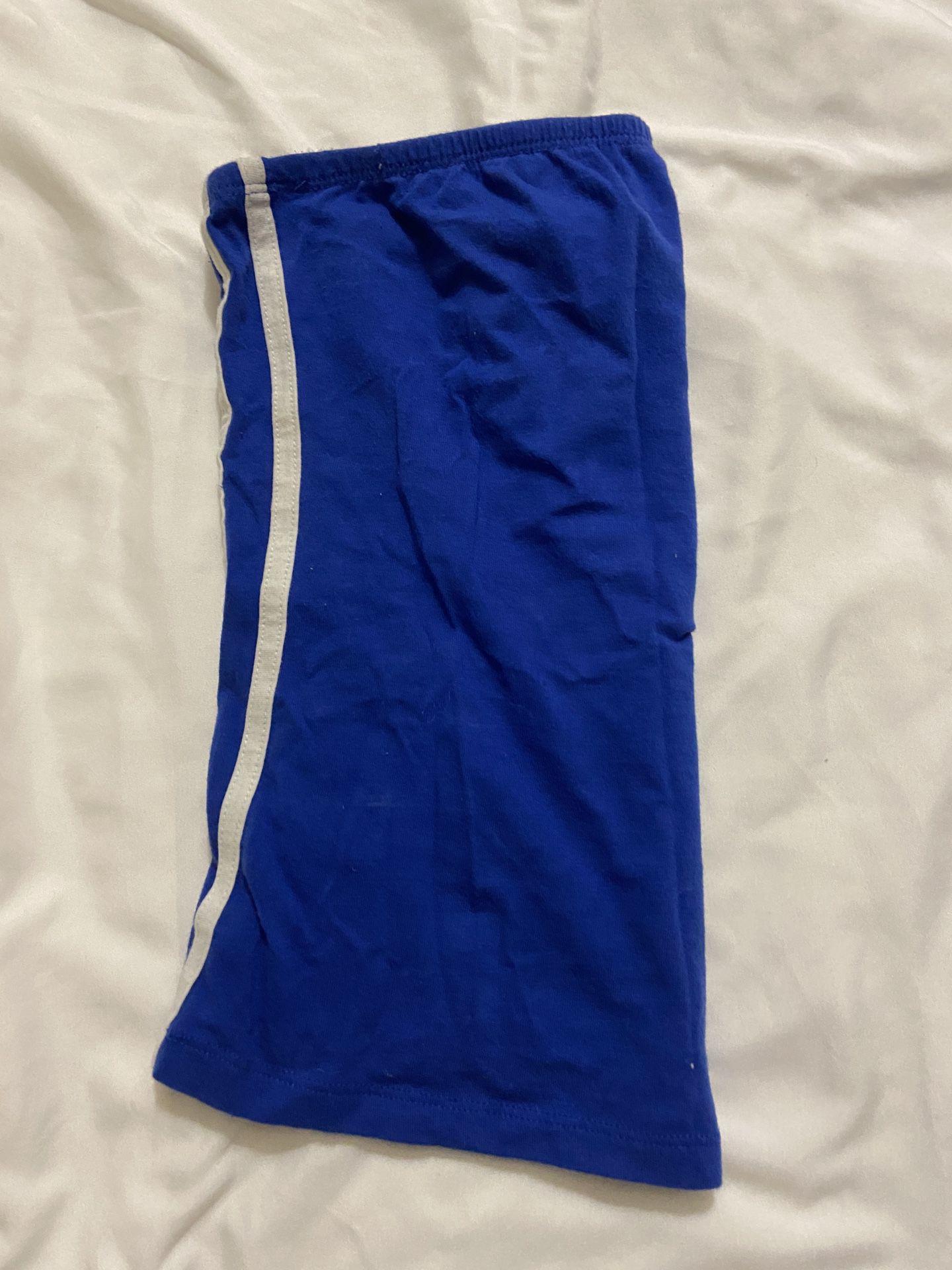 Navy Blue Strapless Top
