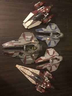 Star Wars Jedi Star fighters lot Thumbnail