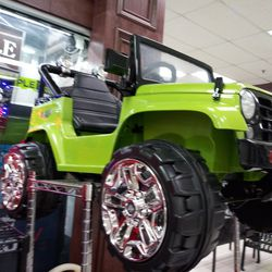 Lime Green Ride On Jeep Thumbnail