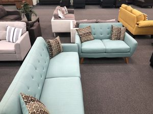 New Mid Century Couch Sofa Set. Laguna. Free Delivery! for Sale in Los Angeles, CA