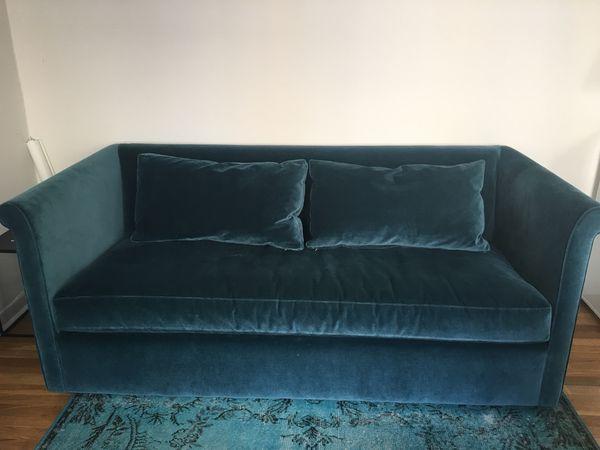 Abc Carpet Home Queen Sleeper Sofa Velvet Blue