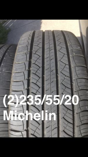 Two 235/55/20 Michelin Latitude Tour Hp one at 80% one at 60% for Sale in Garland, TX