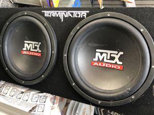 Mtx Terminator 12 Inch Dual Car Subwoofer Subs Plus 2000 Watt Amp 800 Speaker